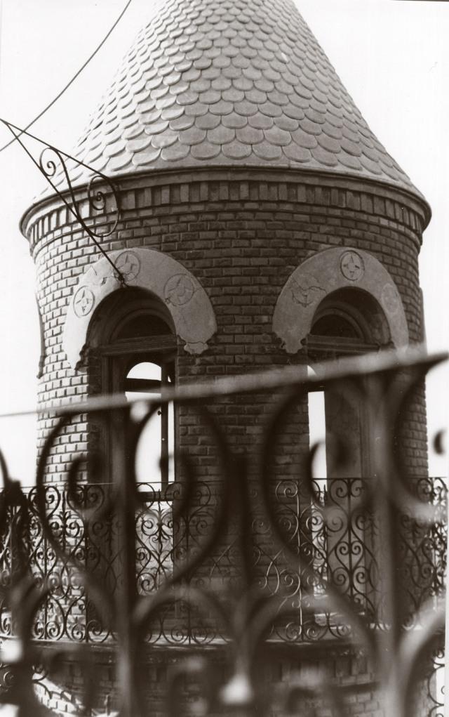 Detalle de la parte superior de una de las torres, 1989 (Foto: Salvador Zamora)